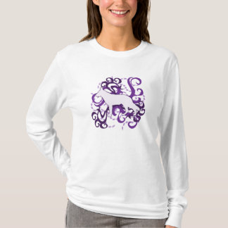 Purple Swirl German Shepherd T-Shirt