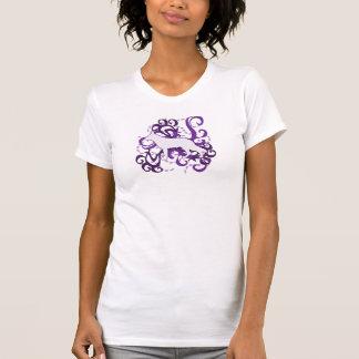 Purple Swirl German Shepherd T Shirts