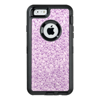 Purple swirl hearts pattern Otterbox iphone case