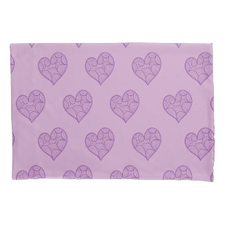 Purple swirl hearts pattern Pillowcase