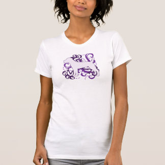 Purple Swirl Patterdale Terrier T-Shirt