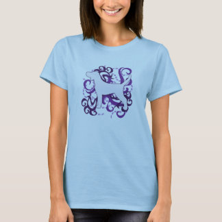 Purple Swirl Plott Hound T-Shirt