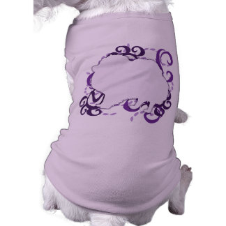 Purple Swirl Pomeranian Dog T Shirt