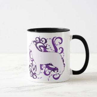 Purple Swirl Siberian Husky Mug