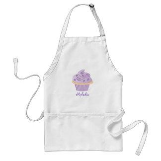 Purple Swirl Sprinkle Cupcake Standard Apron