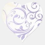 Purple Swirl Sticker/Seal Heart Sticker