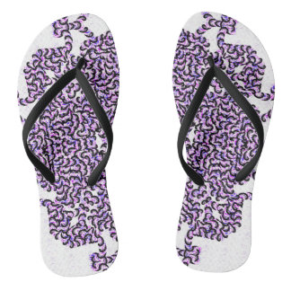 Purple Swirl Tech Flip Flops