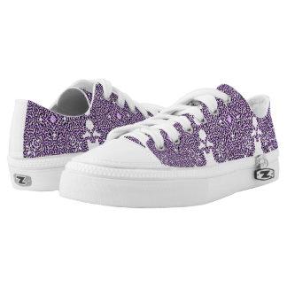 Purple Swirl Tech Low Tops