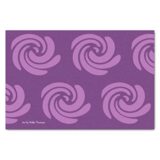 Purple Swirl Tissue Paper