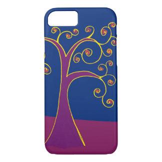 Purple Swirl Tree Phone Case