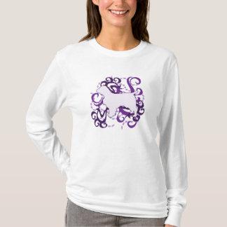 Purple Swirl Welsh Springer Spaniel T-Shirt