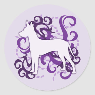Purple Swirl Xoloitzcuintli Classic Round Sticker