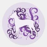 Purple Swirl Xoloitzcuintli Stickers