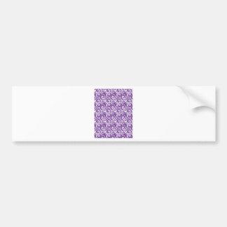 Purple Swirls Bumper Sticker