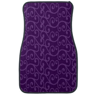Purple swirls floor mat