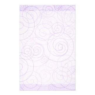 Purple Swirls Writing Paper Customized Stationery