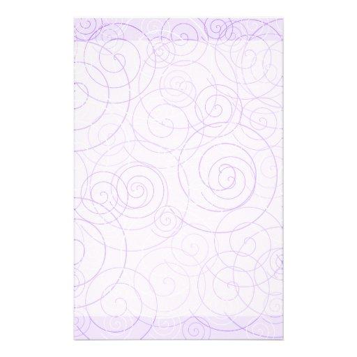 Purple Swirls Writing Paper Stationery Paper