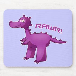 Purple T-Rex Mouse Pad