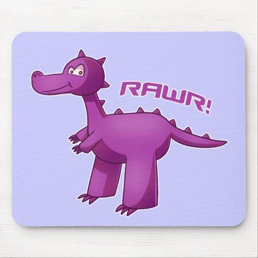 Purple T-Rex Mousepads