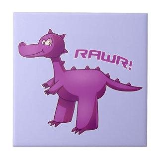 Purple T-Rex Tile