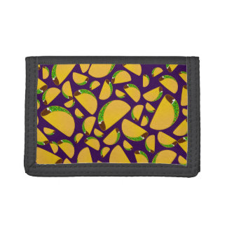 Purple tacos trifold wallet