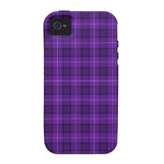 Purple Tartan Plaid iPhone 4/4S Cases