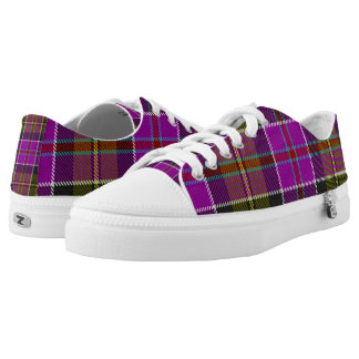 purple tartan shoes, Mens Tartan Patterned, Low Tops