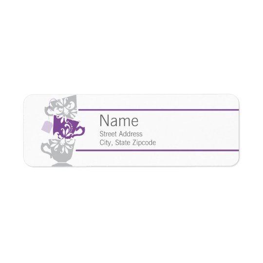 Purple Tea Return Address Label
