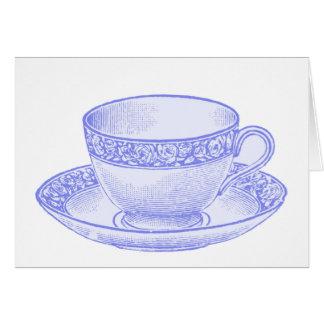 Purple Teacup Card