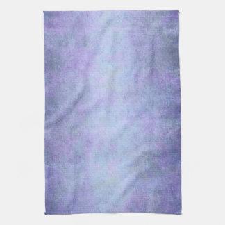 Purple, Teal Blue, Aqua, and Violet Watercolor Tea Towel