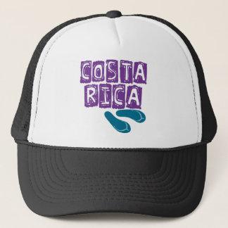 Purple & Teal Costa Rica Flip Flop Trucker Hat