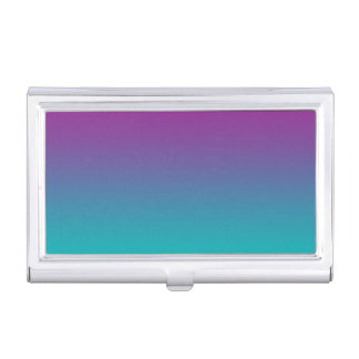 Purple & Teal Ombre Business Card Holders