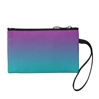 Purple & Teal Ombre Change Purses