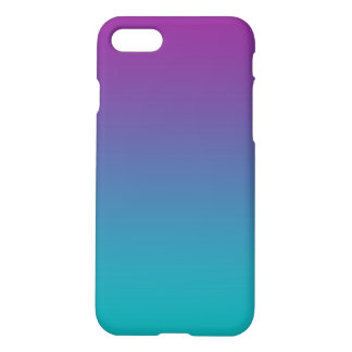 Purple & Teal Ombre iPhone 7 Case