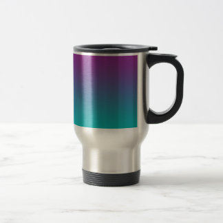 Purple & Teal Ombre Stainless Steel Travel Mug