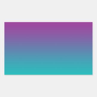 Purple & Teal Ombre Rectangular Sticker