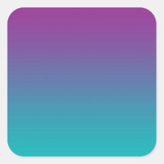 Purple & Teal Ombre Square Sticker