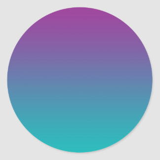 Purple & Teal Ombre Classic Round Sticker