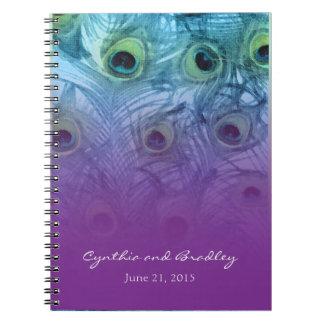 Purple Teal Peacock Notebook