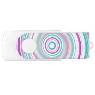 Purple & Teal Swirl - White 16 GB USB Flash Drive