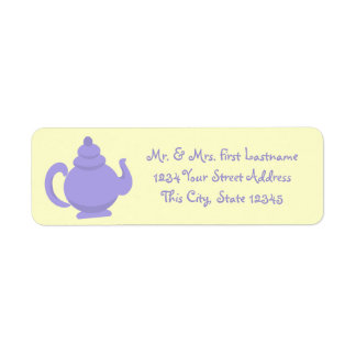 Purple Teapot Return Address Label