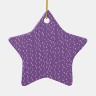 Purple Tears Ceramic Star Decoration