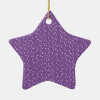 Purple Tears Christmas Ornament
