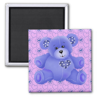 Purple Teddy Bear Love Fridge Magnet