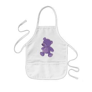 Purple Teddy Kids Apron