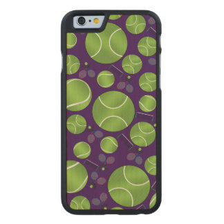 Purple tennis balls rackets and nets carved® maple iPhone 6 case