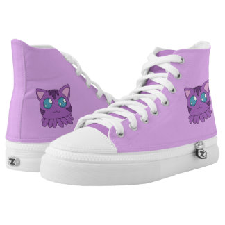 Purple Tentacle Cat Hightops
