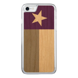 Purple Texas Flag Carved iPhone 7 Case