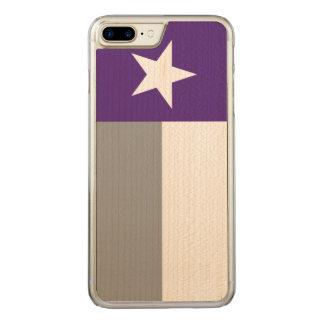 Purple Texas Flag Carved iPhone 7 Plus Case