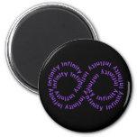 Purple Text Infinity Symbol Magnet